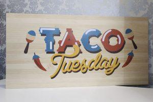 anuncio tablón Tacos