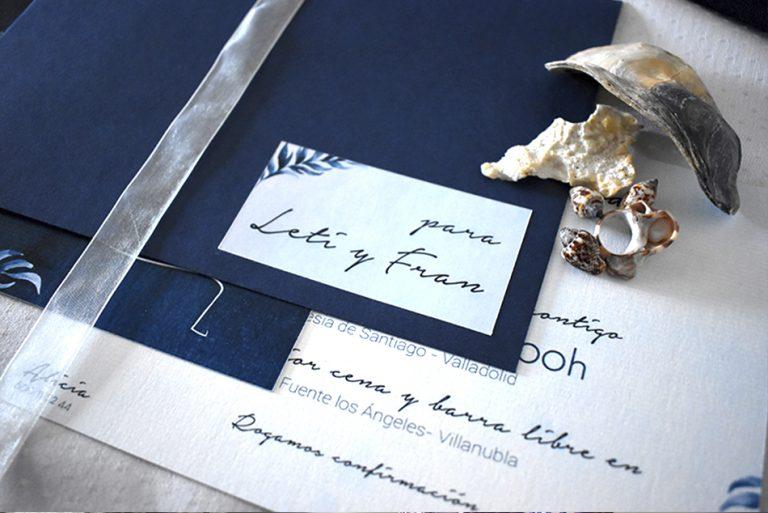 Conjunto papelería de boda