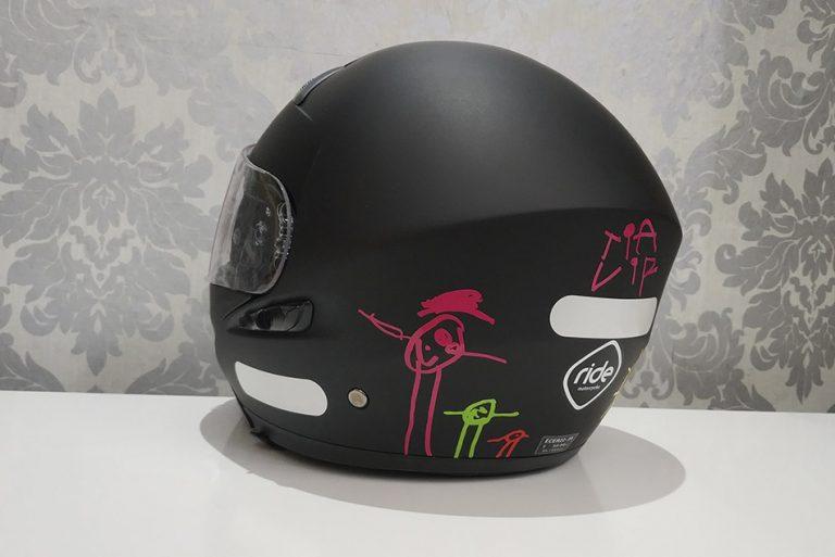 Rotulación casco de moto